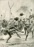 The aborigines' dance of the forked stick
