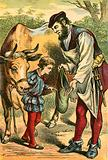 Jack sells a cow for some beans
