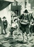 The young Verdi inspired by a organ-grinder