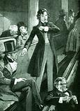 Benjamin Disraeli making his first speech in the house