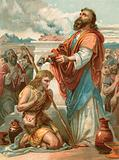 Samuel anointing David King of Israel