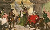 Falstaff enacts the part of the king