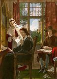 "Milton dictating ""Samson Agonistes"""