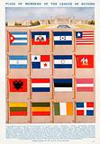 Flags of members of the League of Nations