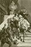 Henry IV wounded, taken to the Louvre