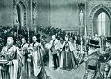 The opening of King Edward's first parliament