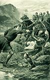 Wallace, attacked by Lord Percy's followers