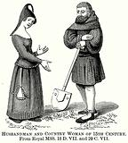 Husbandman and Country Woman of 15th Century