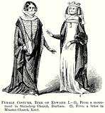 Female Costume, Time of Edward I