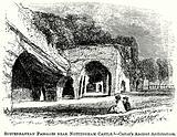 Subterranean Passages near Nottingham Castle. – Carter's Ancient Architecture.