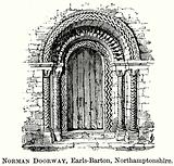 Norman Doorway, Earls-Barton, Northamptonshire