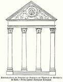 Restoration by Smirke of Portico of Temple of Minerva at Bath