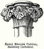 Early English Capital, Salisbury Cathedral