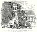Chapter House and Part of the Cathedral, St. Omer. Weale's Architectural Papers