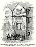 Ornamented House, Time of James I, Lately Standing in Little Moorfields