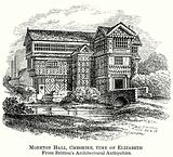 Moreton Hall, Cheshire, Time of Elizabeth from Britton's Architectural Antiquities