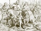 Hereward guards Alftruda to a place of safety