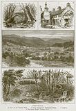 Dolgelly. 1. View on the Torrent Walk. 2. Owen Glendower's Parliament House. 3. Dolgelly. 4.