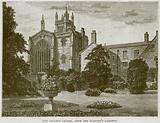 The College Chapel, from the Warden's Gardens