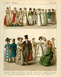 French and German Costumes 1804-1830
