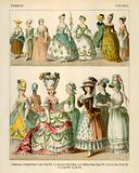 French Costumes 1750-1800