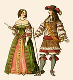 King Louis XIV of France and Maria Theresa Queen of France