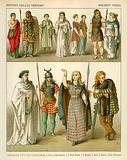 British, Gallic and German Costume