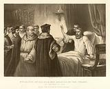 Wyckliffe on his sick bed assailed by the Friars