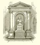 Monument of Dryden in Westminster Abbey