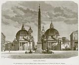 Piazza del Popolo. Via del Babbuino. – S Maria di Monte Santo. – Entry to the Corso. – S.