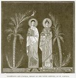 Valerianus and Caecilia, Mosaic of the Ninth Century, at St Caecilia
