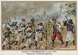 Battle of Wissembourg, Charge of Algerian Skirmishers