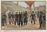 Gambetta Leaves Paris in the Hot Air Balloon 'Armand-Barbes'
