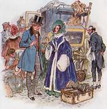 Great Expectations, Estella arrives in Cheapside by coach from Rochester