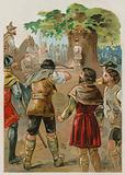 William Tell shooting the apple off his son's head