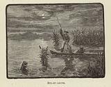 Eel-spearing