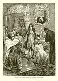 Louis XIV Visits James II. On his Death-Bed.