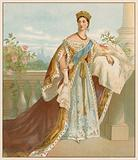 Her Majesty in her Coronation Robes