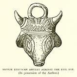 Bronze Etruscan Amulet against the Evil Eye