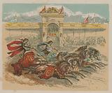 Illustration depicting two chariots