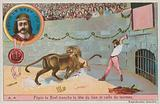 Pepin the short (752-768) attacking the head of the lion and the bull
