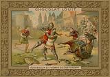 The duel between Bertrand Du Guesclin (c 1320-1380) and Thomas of Canterbury