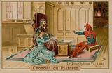 The fool and Charles VI, King of France (1368-1422)