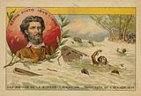 Alexandre de Serpa Pinto  struggling through the rapids of the Cuando River while crossing Africa in 1877