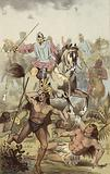 Battle with the Indians of the Vega