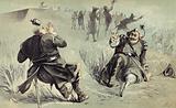 The Terrific Combat between General Risingh and Peter Stuyvesant before Fort Christina