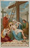 Jesus is taken down from the cross and restored to his mother. The thirteenth Station of the Cross.