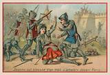 Joan of Arc wounded by a crossbow bolt before Paris