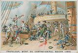 Death of the French Rear-Admiral Magon at the Battle of Trafalgar, 1805