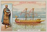 Burchard, military commander of the reign of Charlemagne, and a 9th Century warship